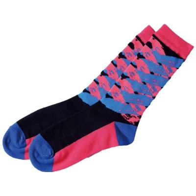 摩達客 SimplyICR愛啟兒-創作襪crx01彩繪紅藍