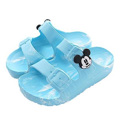 魔法Baby迪士尼米奇輕量休閒拖鞋 藍 sk0447
