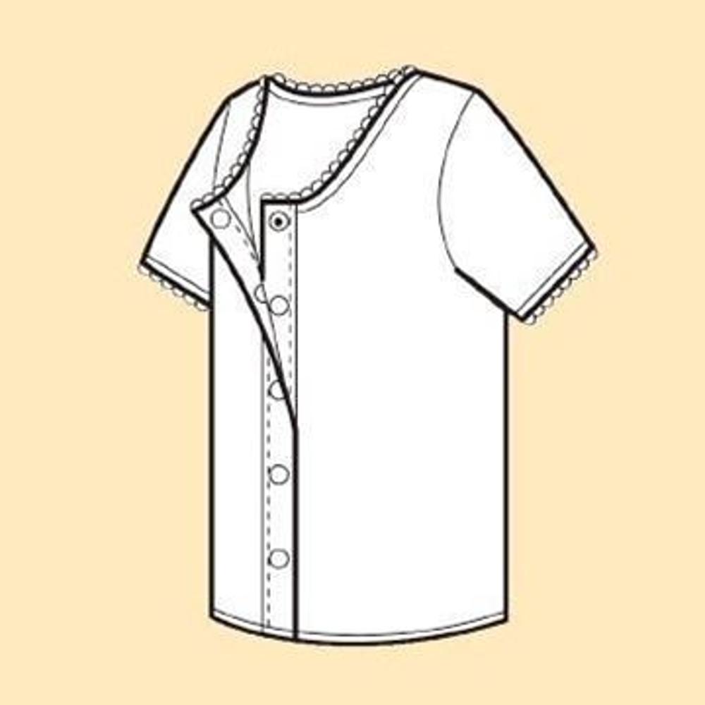 日本製女用前開式自粘內衣 - 三分袖 (穿脫簡單設計)