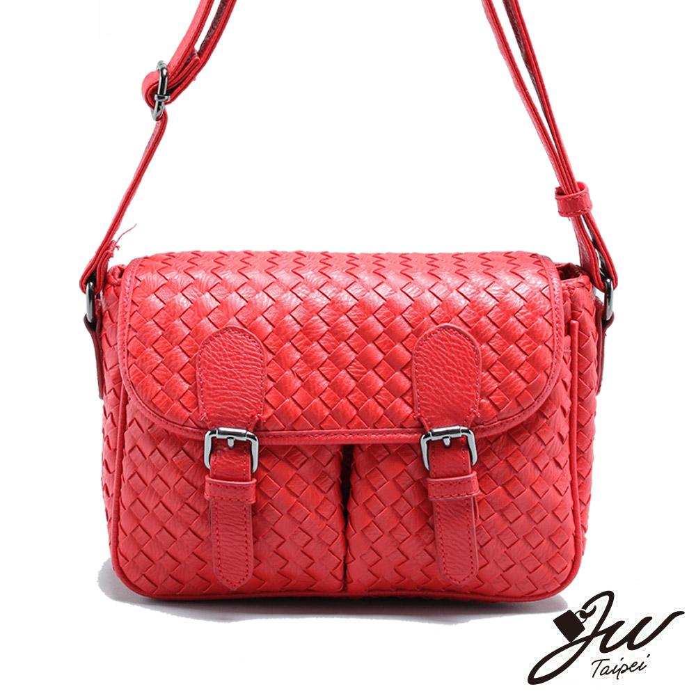 JW 木蘭蒂絲時尚編織紋肩背包 共二色