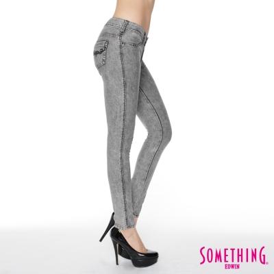 SOMETHING-LADIVA合身窄直筒牛仔褲
