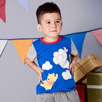 Disney baby 維尼系列飛行短袖上衣 紅色