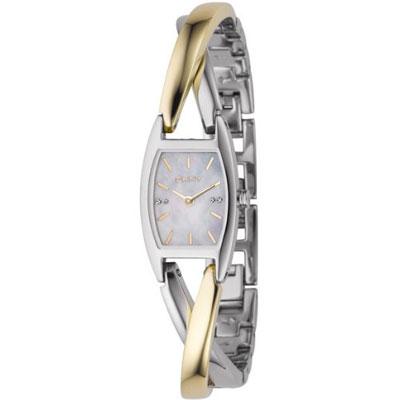 DKNY 經典風貌時尚半金手鐲腕錶-18mm