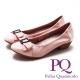 PQ Lady名媛系列 方鑽蝴蝶結造型 女跟鞋-氣質粉(另有黑、金屬灰) product thumbnail 1