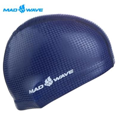 俄羅斯MADWAVE成人專用舒適彈性泳帽TEXTURE