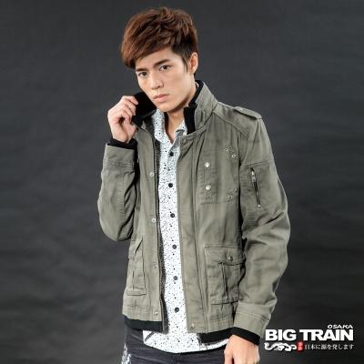 BIG-TRAIN-水洗軍裝鋪棉外套-土黃