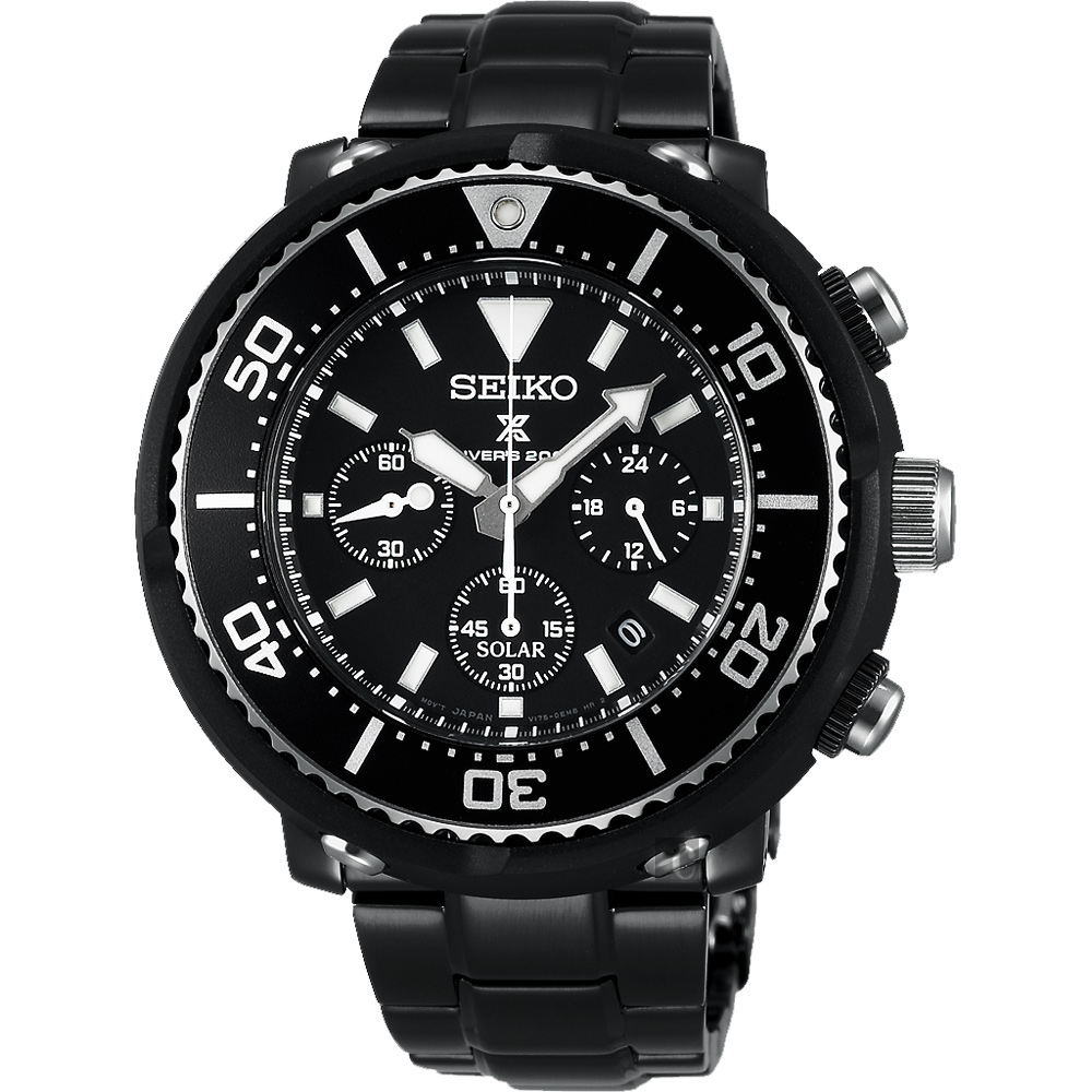 SEIKO精工 Prospex Scuba 鮪魚罐頭太陽能計時限量腕錶(SBDL035J)