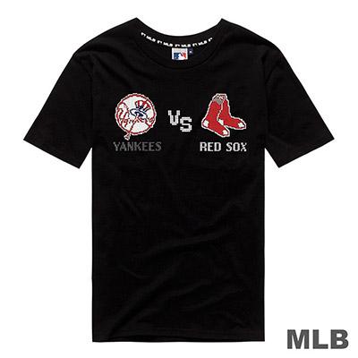 MLB-世仇對戰組合印花短T(洋基V.S紅襪)-黑 (男)