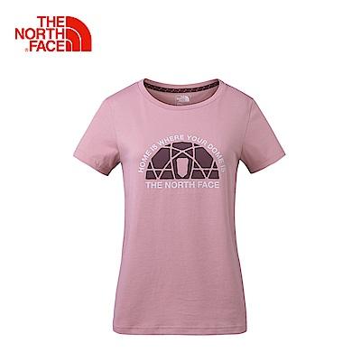 The North Face北面女款紫色舒適透氣短袖T恤