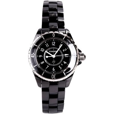 CHANEL J12 H0682 黑色精密陶瓷精鋼女錶-33mm
