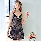 睡衣 全彈性透膚蕾絲性感睡衣(R76029-13性感黑) 蕾妮塔塔