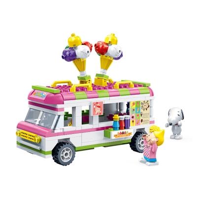 BanBao邦寶積木 史努比系列 Peanuts Snoopy 冰淇淋車 7507