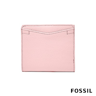 FOSSIL CAROLINE 真皮皮夾 小夾-櫻花粉