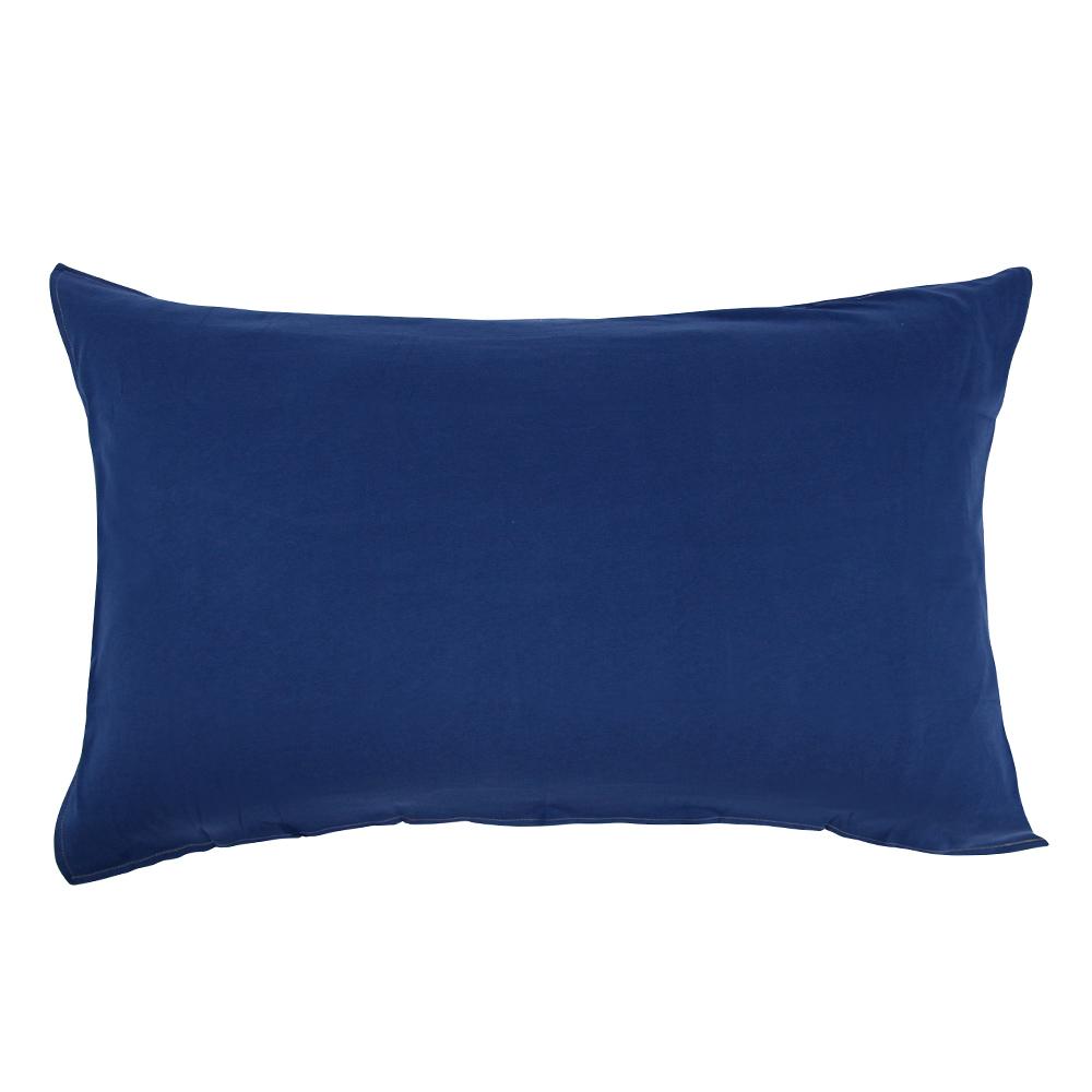 Yvonne Collection義大利床組枕套(正面-藍/背面-中灰)
