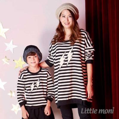Little moni 親子裝條紋毛巾繡上衣 共2色
