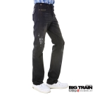 BIG TRAIN-黑潮噴漆直桶褲-黑