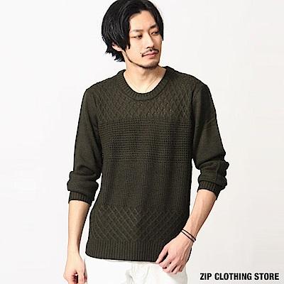 圓領針織毛衣(7色) ZIP日本男裝