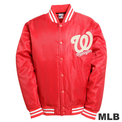 MLB-華盛頓國民隊鋪棉棒球外套-紅(男)