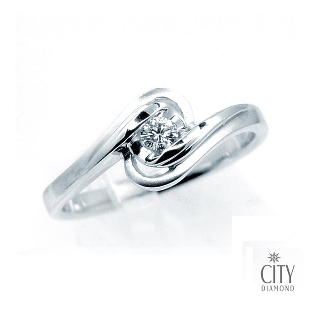 City Diamond『湖心』18分鑽戒_1K1282