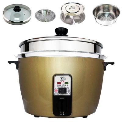 天蠶10人份間熱式電鍋YL-10A-2(304加高玻璃蓋.內鍋.懸空內鍋及鍋蓋.蒸盤