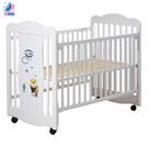 【美國 L.A. Baby】奧蘭多嬰兒搖擺大床/原木床/童床(白色)