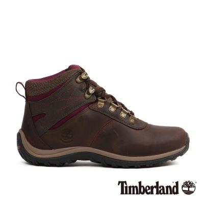 Timberland 女款深棕色拼色防水登山鞋