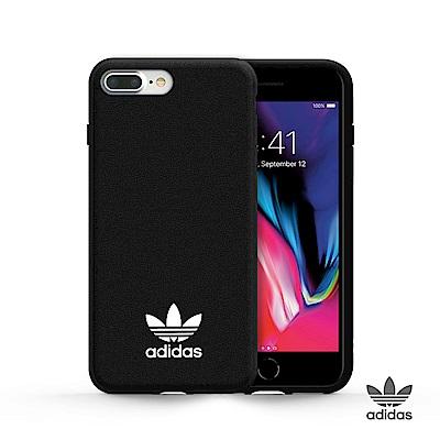 adidas iPhone 6/7/8 plus Original 經典貼皮手機殼 - 黑