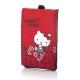 Hello Kitty牛津布手機包-蝴蝶結紅