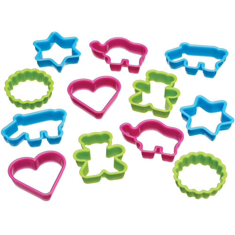 KitchenCraft 桶裝餅乾切模12件(動物愛心)