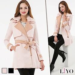 LIYO理優毛領羊毛風衣大衣