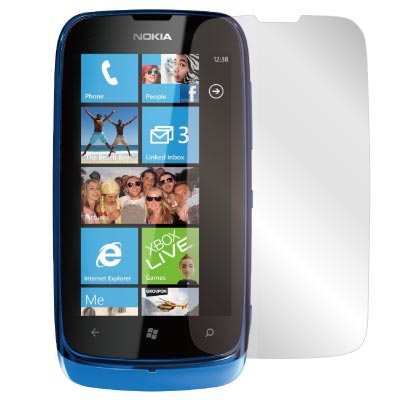 ZIYA Nokia Lumia  610 抗刮亮面螢幕保護貼2入