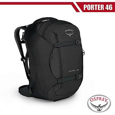 【美國 OSPREY】新款 Porter 46L 多功能自助旅行背包_黑 R