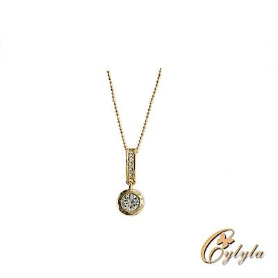 Cylyla思琳娜 施華洛世奇星芒天空水晶項鍊N-10429G(金色)