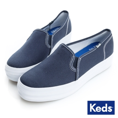 Keds 品牌經典厚底休閒便鞋-海軍藍