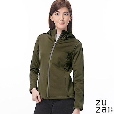 zuzai 自在卓絕連帽短版防水保暖外套-女-綠色