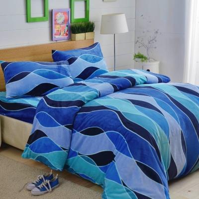 LAMINA 深海秘境 法蘭絨鋪棉床包被套四件組(加大)