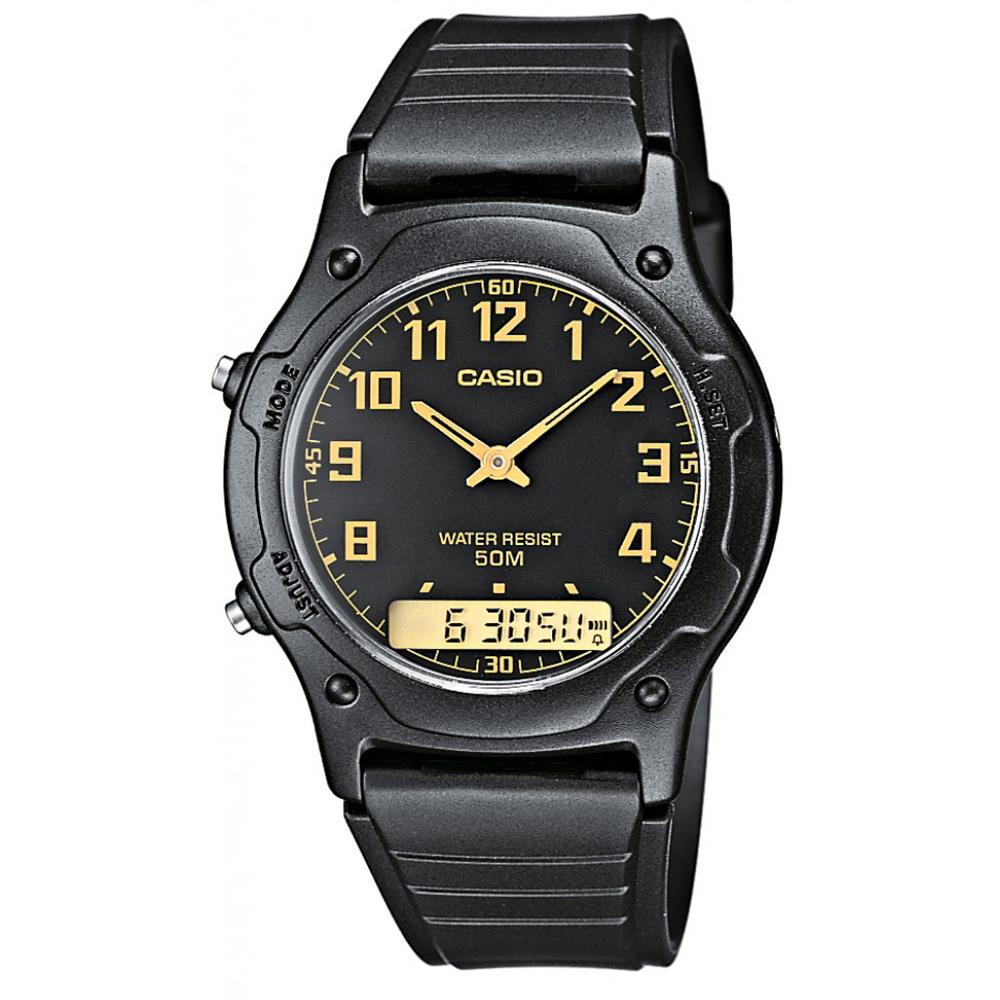 CASIO 超時玩家雙顯指針錶(AW-49H-1B)-黑