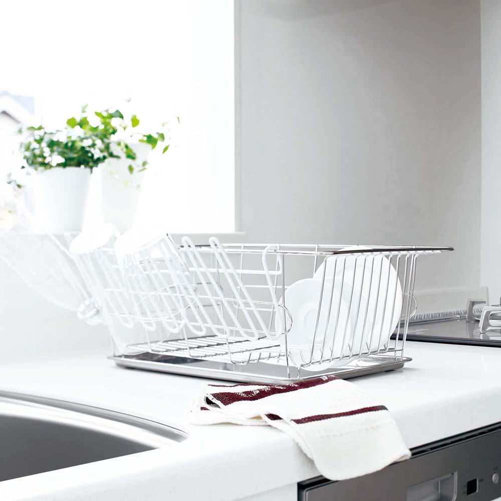 【YAMAZAKI】EASY吊掛瀝水架-白★餐具收納/置物架/廚房用品