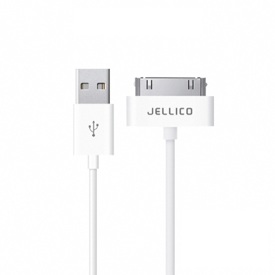 JELLICO iPhone4/4S 30pin耐用系列充電線/JEC-NY10-WTA1