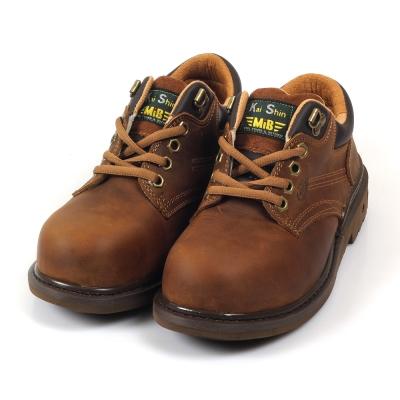 Kai Shin 鋼包頭 安全工作鞋 褐色
