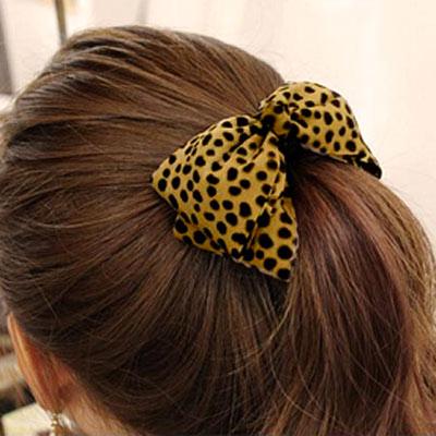【Aimee Toff】豹紋層次蝴蝶結髮束