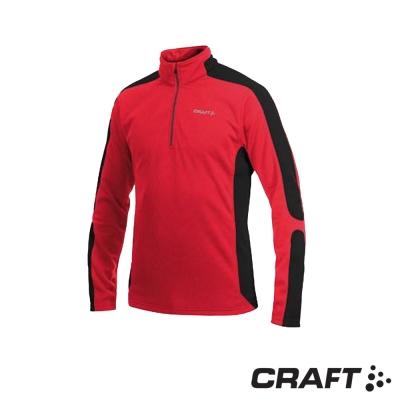 【瑞典 Craft】男款 Shift Free 保暖長袖中層衣_亮紅/黑