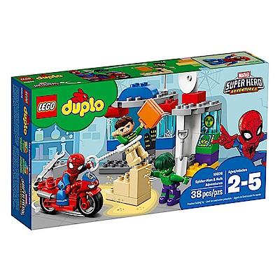 LEGO樂高  得寶系列 10876 漫威英雄 蜘蛛人&浩克的冒險