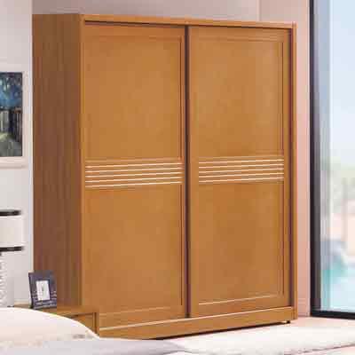 時尚屋 米堤柚木色7尺衣櫃 寬212x深60.5x高197cm