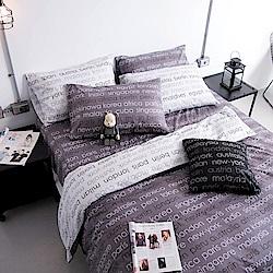 OLIVIA  Winston 鐵灰 標準雙人床包美式枕套組