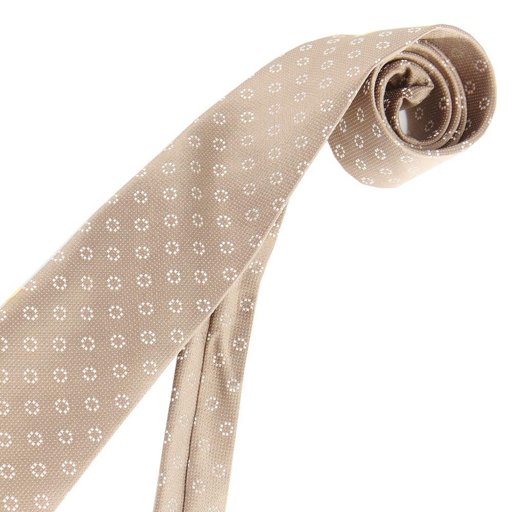 極品西服- 復古花點淡金色絲質領帶 (YT0018)