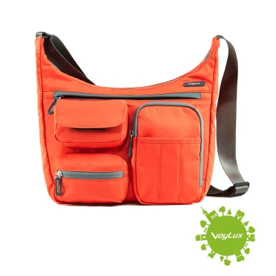 VoyLux伯勒仕-專櫃精品-美式輕量防潑水-休閒斜背包 3681958-橘