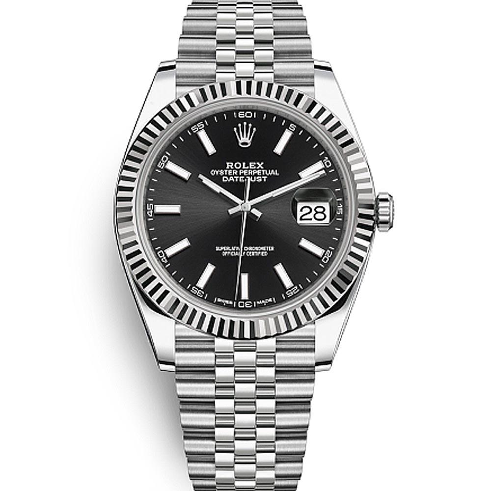 ROLEX 勞力士126334 Datejust  蠔式恆動紀念型錶帶腕錶黑面-41mm