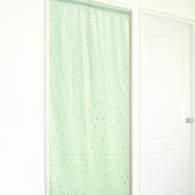 布安於室-銀色星空遮光長門簾-綠色-寬130x高180cm