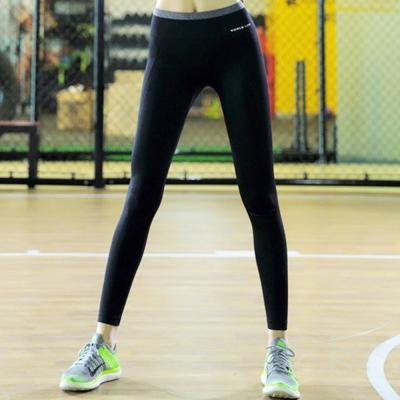 簡約腰間配色貼腿運動長褲-共二色-SZ-sport